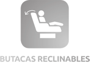 Butacas reclinables